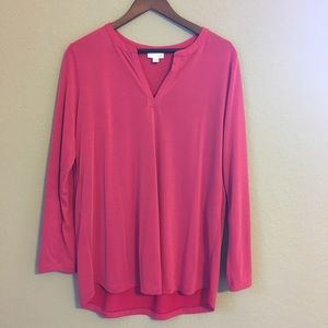 Women's J. Jill Long Sleeve Pink Top